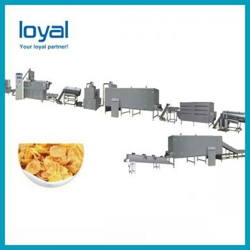 Hot sale choco ring ball honey cereal breakfast corn flakes making extruder machine
